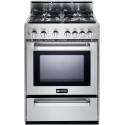 "Verona 24"" VEFSGG244NSS Pro-Style Gas Range with FREE HOOD"