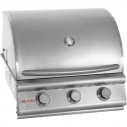 "25"" 3 Burner Built In Grill Head NG"