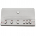 "40"" 5 Burner with Red knob lights and interior lights LP"