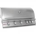 Blaze 40 Inch 5-Burner Built-In Natural Gas Grill With Rear Infrared Burner