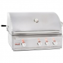 "34"" 3 Burner PRO Built In Grill Head NG"