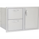 "Blaze Door and Double Drawer Combo (21""h x 32""w)"