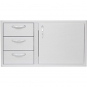 "Blaze Door and Double Drawer Combo (21""h x 39""w)"