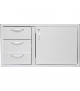 "Door and Double Drawer Combo (21""h x 39""w)"