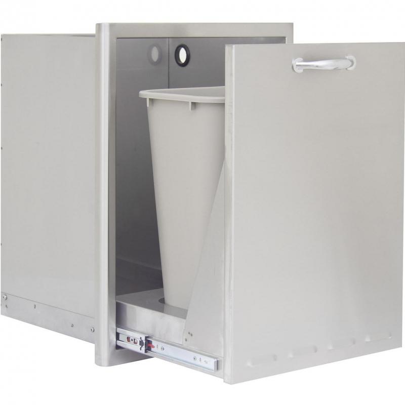 blaze propane drawer trash drawer w can range store. Black Bedroom Furniture Sets. Home Design Ideas