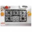 """GE PROFILE 36"""" Built-In Gas Cooktop PGP966SET1SS"""