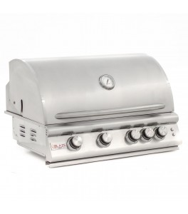 Blaze LTE Marine Grade 32-Inch 4-Burner Built-In Natural Gas Grill With Rear Infrared Burner & Grill Lights - BLZ-4LTE2MG-NG