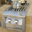 Alfresco Built-In Propane Gas Double Side Burner - AXESB-2-LP