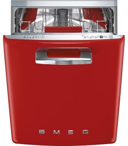 "Smeg 50's Retro Design 24"" Fully Integrated Dishwasher Red STFABURD"