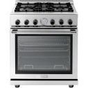 """Superiore RN301GPSS 30"""" Stainless Pro-Style 4-Burner Gas Range"""