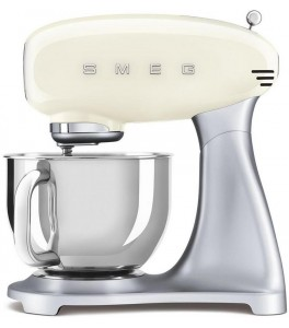 Smeg SMF02CRUS 50's Retro Style Aesthetic Stand Mixer with Stainless Steel Bowl