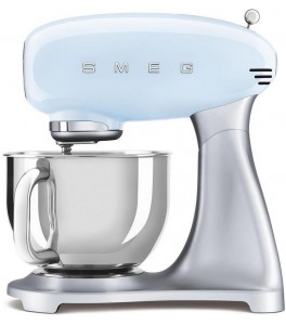 Smeg SMF02PBUS 50's Retro Style Aesthetic Stand Mixer with Stainless Steel Bowl
