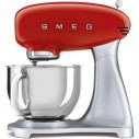 Smeg SMF02RDUS 50's Retro Style Aesthetic Stand Mixer with Stainless Steel Bowl in Red