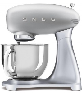 Smeg SMF02SVUS 50's Retro Style Aesthetic Stand Mixer with Stainless Steel Bowl in Pink