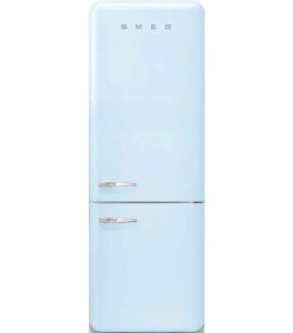 Smeg FAB38URPB 50s Retro Style Series 28 Inch Freestanding Refrigerator, Automatic Defrost in Pastel Blue, Right Hinge