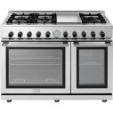 "Superiore RN482GPSS NEXT 48"" Panorama Stainless steel Natural Gas Range"