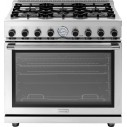 "Superiore RN361GPSS 36"" NEXT Gas Range with Panorama Door and Extra Large Gas Oven - Natural Gas, Stainless Steel"