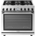"""Superiore RN361GPSS 36"""" NEXT Gas Range with Panorama Door and Extra Large Gas Oven - Natural Gas, Stainless Steel"""