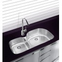 "Ukinox 38"" D5376040L Undermount Double Bowl Stainless Steel Sink"