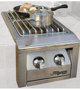 Alfresco AGSB-2 14-Inch Built-In 2 Burner Unit - Natural Gas