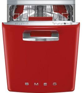 "Smeg 50's Retro Design 24"" Fully Integrated Dishwasher Red STFABURD"