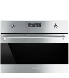 Smeg SU45MCX1 Classic Series 24 Inch 1.2 cu. ft. Total Capacity Electric Single Wall Speed Oven with Convection
