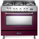 Verona VPFSGE365BU Prestige Series 36 Inch Freestanding Dual Fuel Range with Natural Gas
