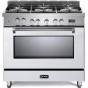 Verona VPFSGE365W Prestige Series 36 Inch Freestanding Dual Fuel Range with Natural Gas