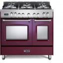 Verona VPFSGE365DBU Prestige Series 36 Inch Freestanding Dual Fuel Range with Natural Gas,