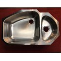 Franke Vision VNX160 Stainless Steel 33 Inch Undermount Double Bowl Stainless Steel