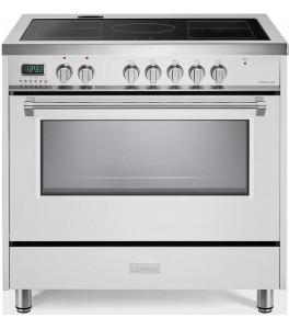 Verona VDFSIE365W Designer Series 36 Inch Freestanding Electric Induction Range in White