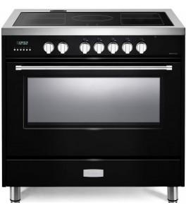 Verona VDFSIE365GB Designer Series 36 Inch Freestanding Electric Induction Range in Gloss Black